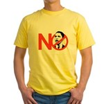 NO OBAMA Yellow T-Shirt
