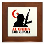 Al Qaida for Obama Framed Tile