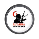 Al Qaida for Obama Wall Clock