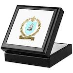 COURTEMANCHE Family Crest Keepsake Box
