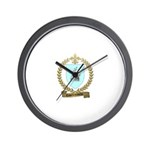 COURTEMANCHE Family Crest Wall Clock
