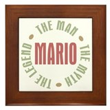 Mario Man Myth Legend Framed Tile