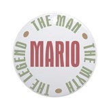Mario Man Myth Legend Ornament (Round)