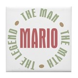 Mario Man Myth Legend Tile Coaster