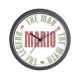 Mario Man Myth Legend Wall Clock