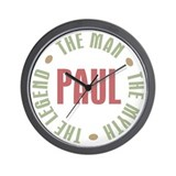 Paul Man Myth Legend Wall Clock