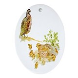 Bobwhite Quail Oval Ornament