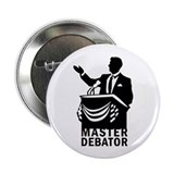 "Master Debator 2.25"" Button (10 pack)"