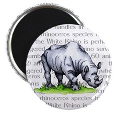 "Rhinoceros 2.25"" Magnet (10 pack)"