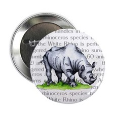 "Rhinoceros 2.25"" Button (100 pack)"