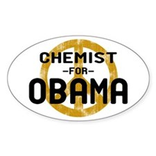 Chemist for Obama Oval Decal