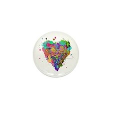 The Complex Heart Mini Button (100 pack)