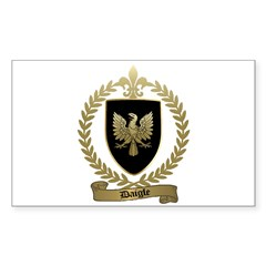 DAIGLE Family Crest Rectangle Sticker