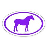 Draft Horse Oval (purple) Oval Sticker (50 pk)