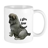 Eurasier puppy kisses Small Mugs