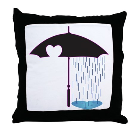 Emobrella Throw Pillow