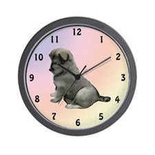 Eurasier puppy kisses Wall Clock