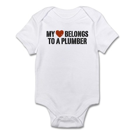 My Heart Belongs to a Plumber Infant Bodysuit
