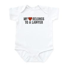 My Heart Belongs to a Lawyer Infant Bodysuit
