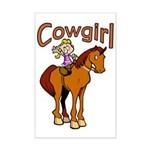 Cowgirl Mini Poster Print