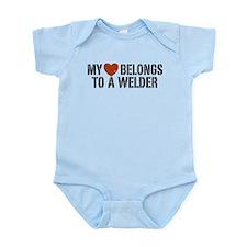 My Heart Belongs to a Welder Infant Bodysuit