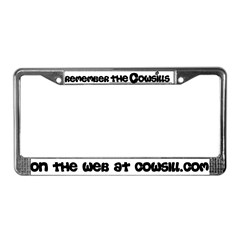 Remember Cowsills License Plate Frame