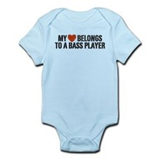 My Heart Belongs to a Bass Player Infant Bodysuit