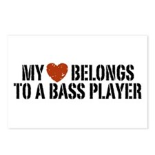 My Heart Belongs to a Bass Player Postcards (Packa