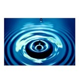 Water Droplet Splash Postcards (Package of 8)