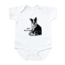 Funny Pets boston terrier Infant Bodysuit