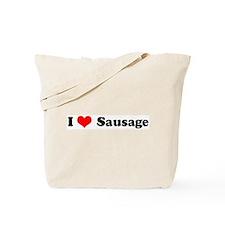 I Love Sausage Tote Bag