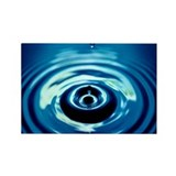 Water Droplet Splash Rectangle Magnet