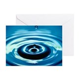 Water Droplet Splash Greeting Cards (Pk of 10)