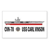 USS Vinson CVN-70 Rectangle Decal