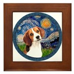 Starry Night Beagle #1 Framed Tile