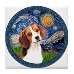 Starry Night Beagle #1 Tile Coaster