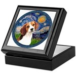 Starry Night Beagle #1 Keepsake Box