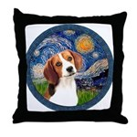 Starry Night Beagle #1 Throw Pillow