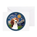 Starry Night Beagle #1 Greeting Card