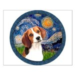 Starry Night Beagle #1 Small Poster