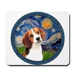 Starry Night Beagle #1 Mousepad