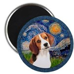 Starry Night Beagle #1 Magnet