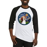 Starry Night Beagle #1 Baseball Jersey