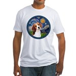 Starry Night Beagle #1 Fitted T-Shirt