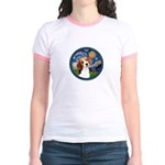Starry Night Beagle #1 Jr. Ringer T-Shirt