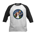 Starry Night Beagle #1 Kids Baseball Jersey