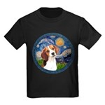 Starry Night Beagle #1 Kids Dark T-Shirt