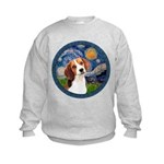 Starry Night Beagle #1 Kids Sweatshirt