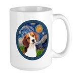 Starry Night Beagle #1 Large Mug