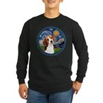 Starry Night Beagle #1 Long Sleeve Dark T-Shirt